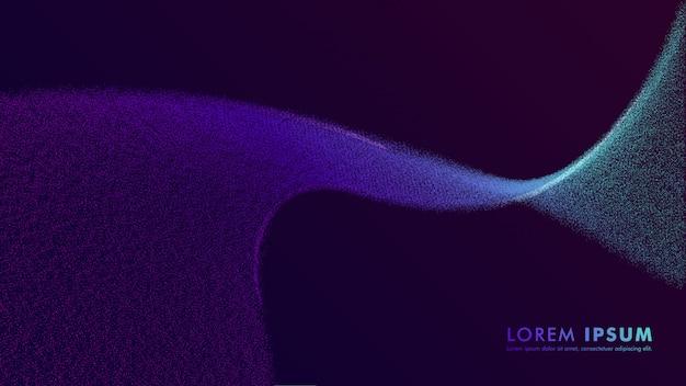 Abstraktes buntes plakatschablonen-partikeldesign