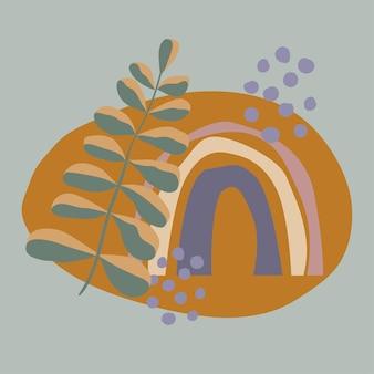 Abstraktes buntes regenbogenplakat für kinderzimmerdekorgrußkarte-babypartyeinladung