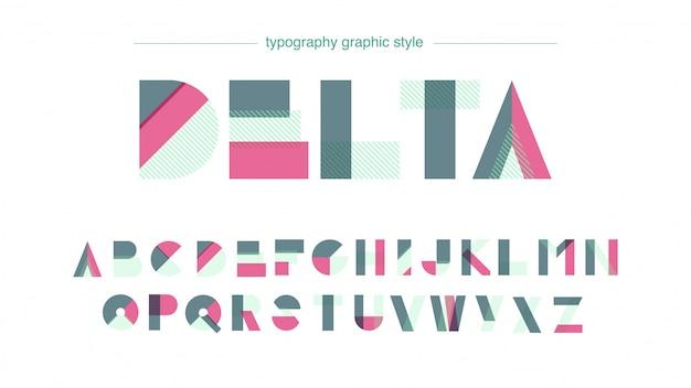 Abstraktes buntes typografie-form-design
