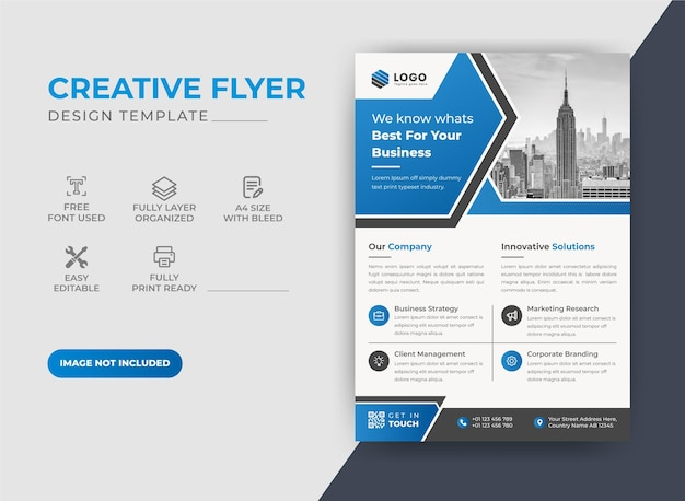 Abstraktes corporate business flyer design