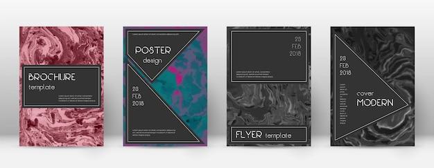 Abstraktes cover. erstaunliche designvorlage. schwarzes plakat aus suminagashi-marmor. erstaunlich trendiges abstraktes cover.