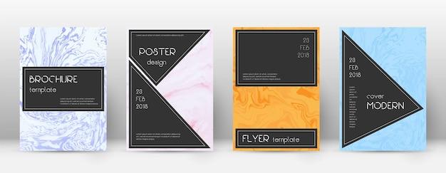 Abstraktes cover. ordentliche designvorlage. schwarzes plakat aus suminagashi-marmor. ordentliches trendiges abstraktes cover.