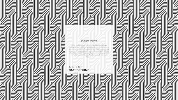 Abstraktes dekoratives diagonales wellenlinienmuster