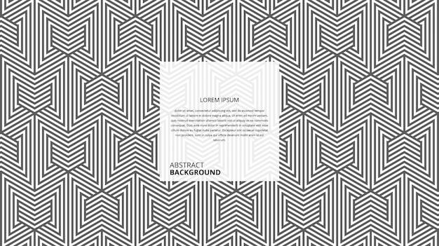 Abstraktes dekoratives dreieck-weidenmuster