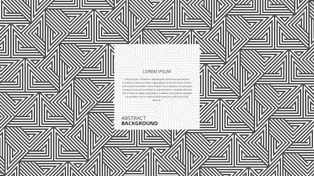 Abstraktes dekoratives dreiecksformlinienmuster