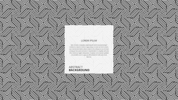 Abstraktes dekoratives sechseckiges quadratisches linienmuster