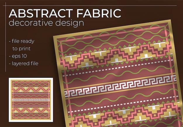 Abstraktes dekoratives stoffdesign mit realistischem modell für die druckproduktion. hijab, schal, kissen usw.