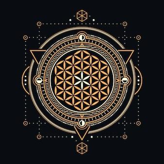 Abstraktes design der heiligen geometrie