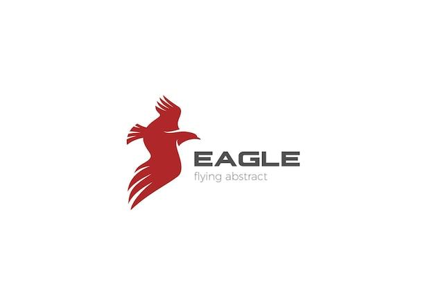 Abstraktes design des eagle flying logo. falcon hawk wings logo