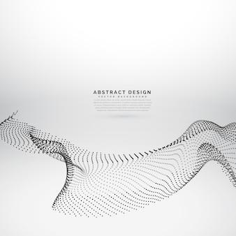 Abstraktes design von vektorpartikeln in wellenart fließenden