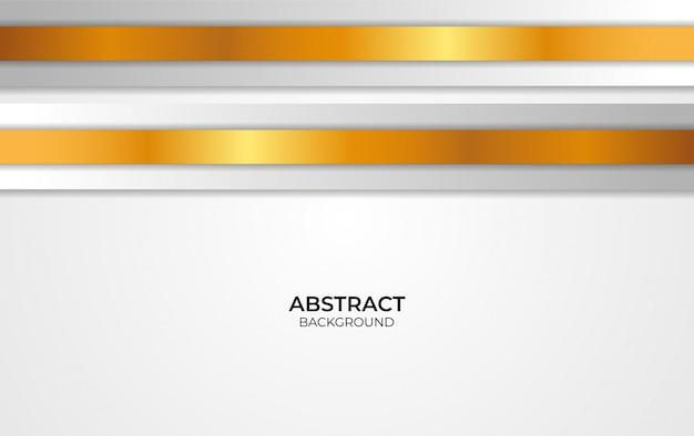 Abstraktes design weiß und gold