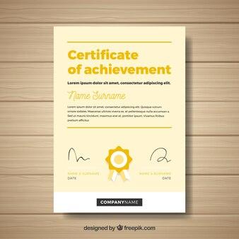 Abstraktes design-zertifikat
