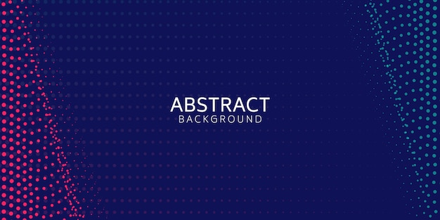 Abstraktes digitales wellenteilchen auf blauem hintergrund