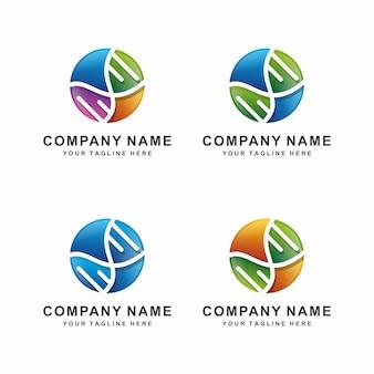 Abstraktes dna-logo-design