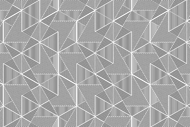 Abstraktes dreieck zeichnet musterhintergrund
