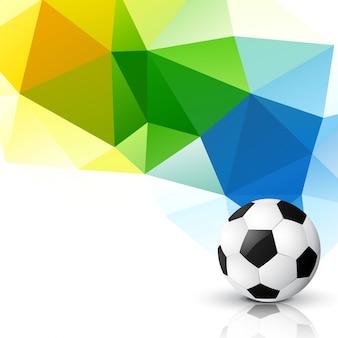 Abstraktes dreieckdesign der fußballmeisterschaft