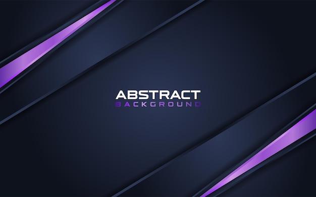Abstraktes dunkelblau mit lila linienkombinationshintergrund