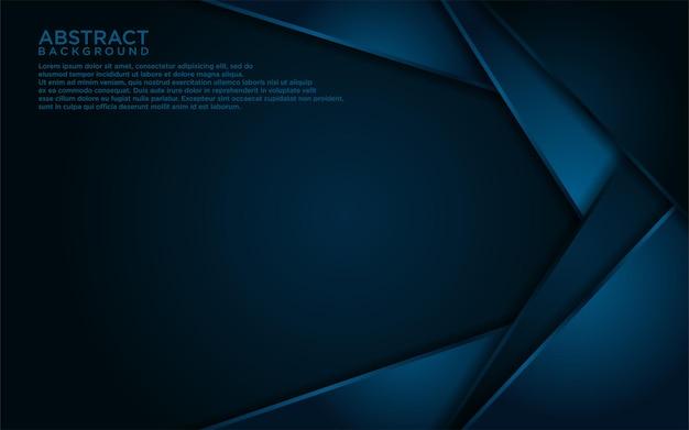 Abstraktes dunkelblaues linien- und formhintergrunddesign