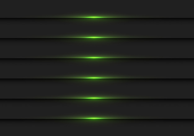 Abstraktes dunkelgrünes licht auf schwarzem metallfensterladenhintergrund.