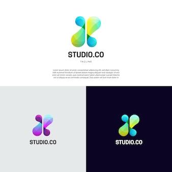 Abstraktes dynamisches flüssiges logo-zeichen-symbol-symbol