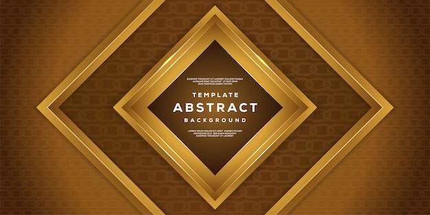 Abstraktes dynamisches gemasert mit art 3d des luxuriösen geometrischen goldhintergrundes