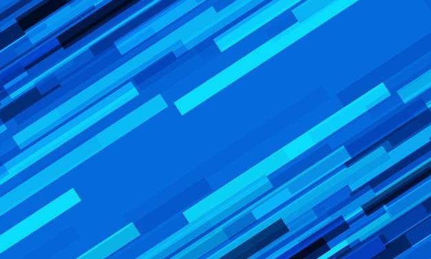 Abstraktes dynamisches geometrisches design der blauen geschwindigkeitslinie