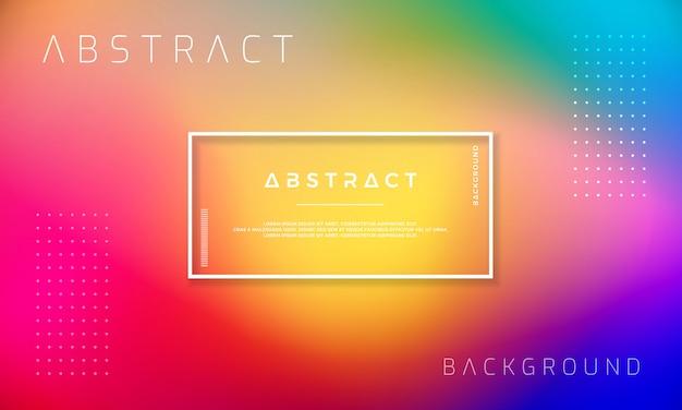Abstraktes dynamisches hintergrunddesign mit bunten steigungsformen.