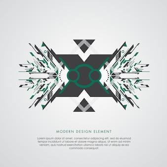 Abstraktes element der grünen und schwarzen geometrie