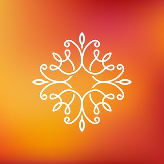 Abstraktes emblem des vektors - entwurfsmonogramm