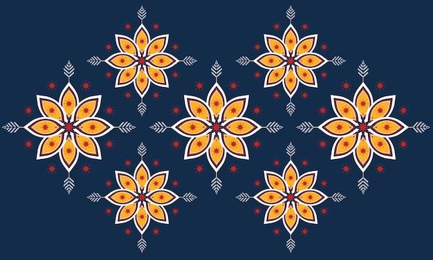 Abstraktes ethnisches geometrisches musterdesign für hintergrund oder tapete.