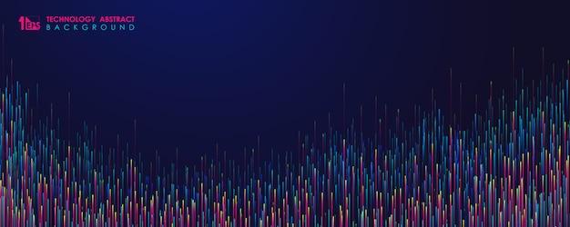 Abstraktes farbdesign des breiten hintergrunds der futuristischen musterliniengrafikvorlage.