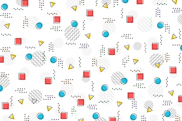 Abstraktes farbgeometrisches musterdesignschablonenhintergrund.