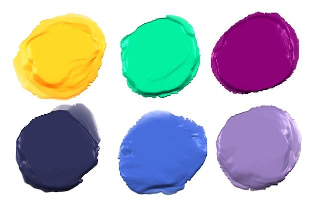 Abstraktes farbset
