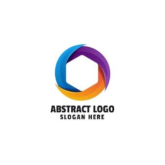 Abstraktes farbverlauf-logo-design