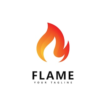 Abstraktes feuerflammenlogodesign
