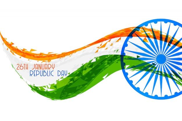 Abstraktes flaggenfahnendesign der indischen republik tages