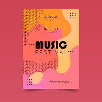Abstraktes fließendes musikplakat