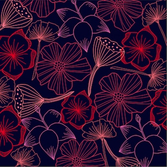 Abstraktes flora backround