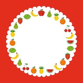 Abstraktes fruchtdesign, grafik der vektorillustration eps10