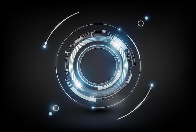 Abstraktes futuristisches hintergrundkonzept der elektronischen schaltungstechnologie, illustration