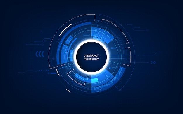 Abstraktes futuristisches hintergrundtechnologie-sciencefictionkonzept