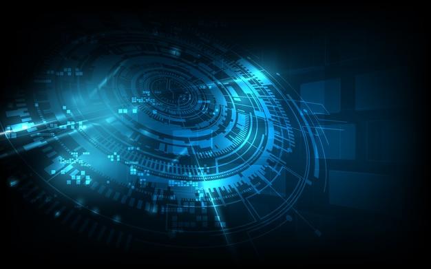 Abstraktes futuristisches hintergrundtechnologie-sciencefictionkonzept Premium Vektoren
