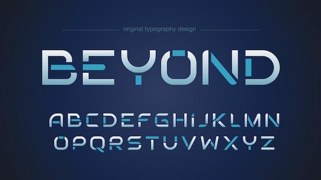 Abstraktes futuristisches sport-typografie-design