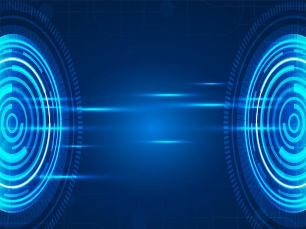 Abstraktes futuristisches technologievisionsdesign