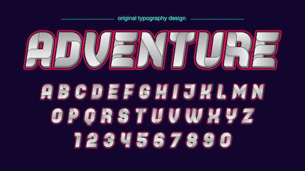 Abstraktes futuristisches typografie-design