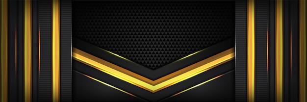 Abstraktes gelbes geometrisches der hintergrundüberlappungsschicht