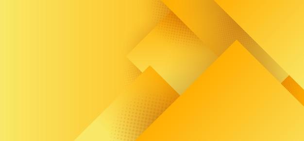 Abstraktes gelbes geometrisches quadratisches muster