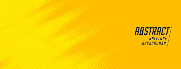 Abstraktes gelbes halbton breites elegantes fahnenentwurf