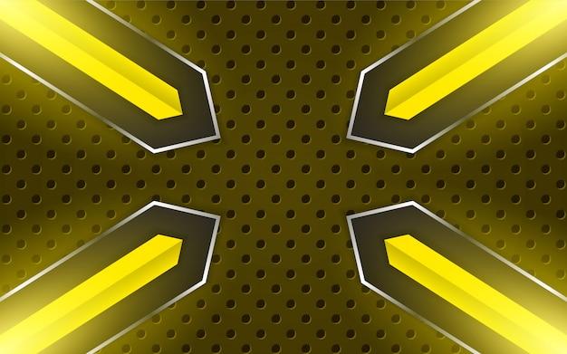 Abstraktes gelbes metall formt hintergrund