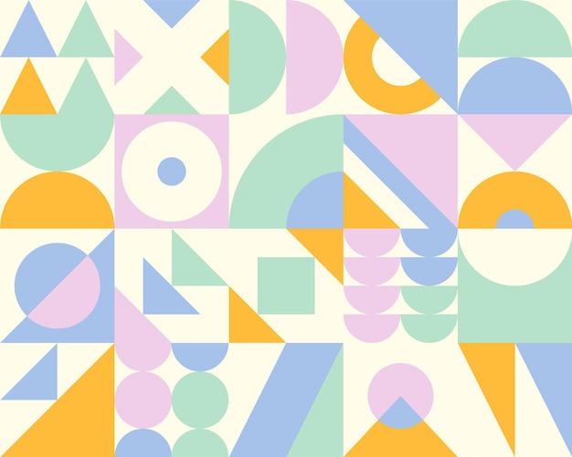 Abstraktes geometrisches banner im bauhaus-stil